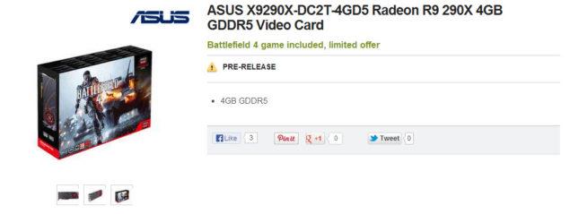 ASUS Radeon R9 290X DirectCU II TOP