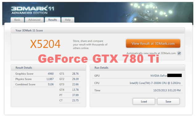 GeForce GTX 780 Ti 3DMark
