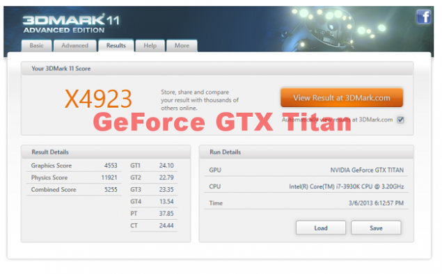 GeForce GTX Titan 3Dmark
