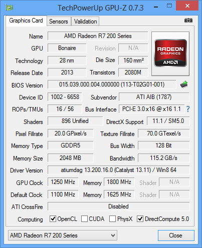 HIS-Radeon-R7-260X-GPUz-2