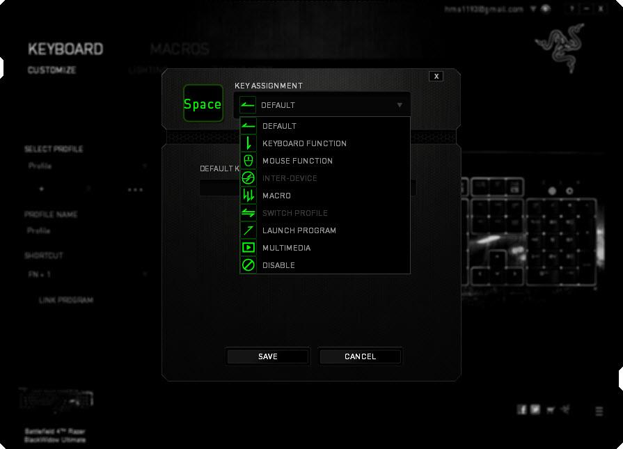 Razer BlackWidow Ultimate Battlefield 4 Collectors Edition