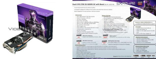 Sapphire Dual-X R9 270X 2G GDDR5 OC Boost