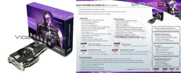 Sapphire Dual-X R9 280X 3G GDDR5 OC