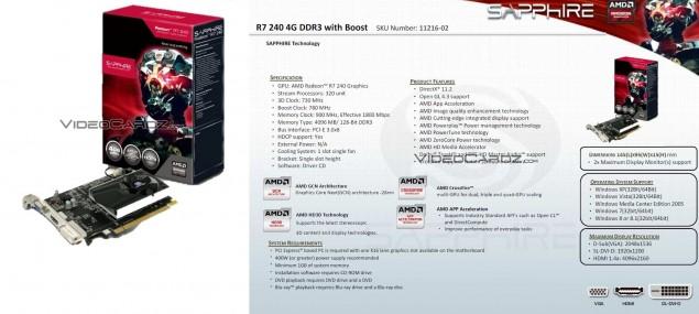 Sapphire R7 240 4G DDR3