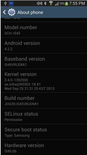 update verizon galaxy s4 to vrudmi1