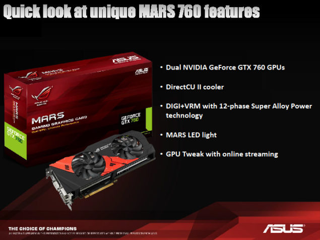 ASUS 760 Mars Features
