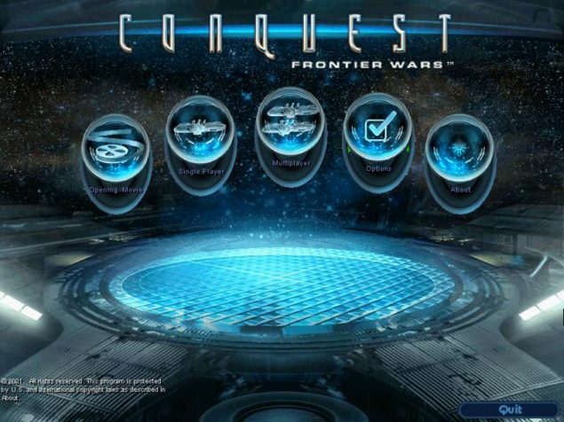 Conquest Frontier Wars Main Screen