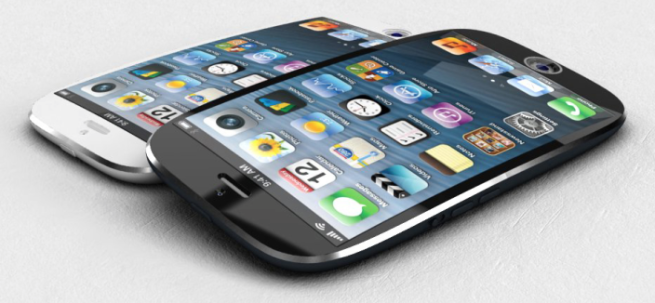 curved iPhone screen