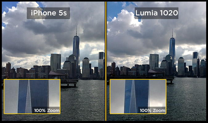 iphone 5s vs lumia 1020 camera