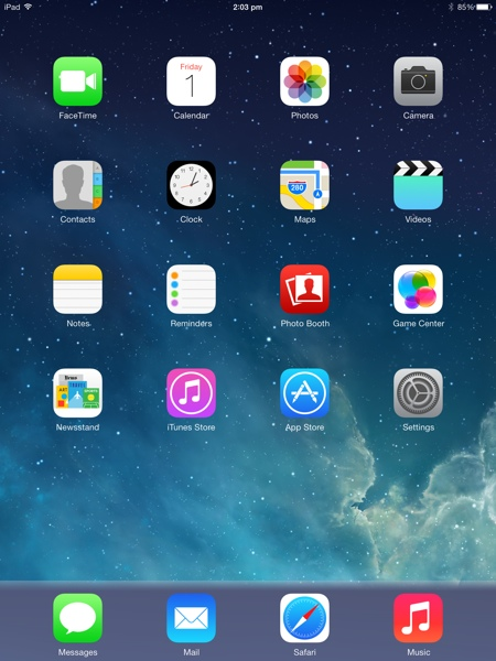 setup ipad air
