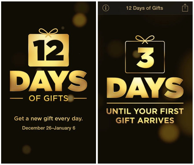 12 days of gifts us app