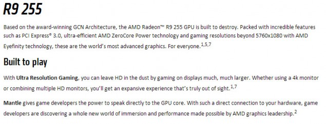 AMD Radeon R9 255