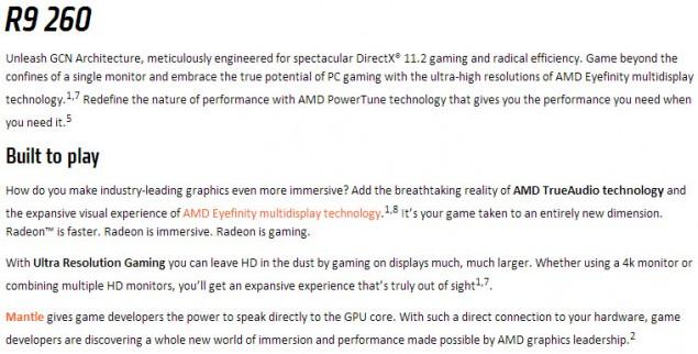 AMD Radeon R9 260