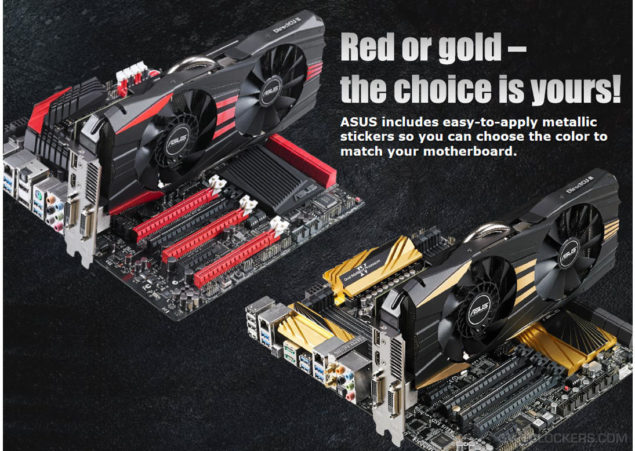 ASUS Radeon R9 290X DirectCU II Red and Gold