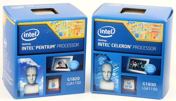 Celeron G1820 and G1830 boxes