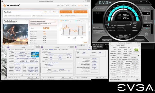 EVGA GeForceGTX 780 Ti Classified KingPin World Recrod