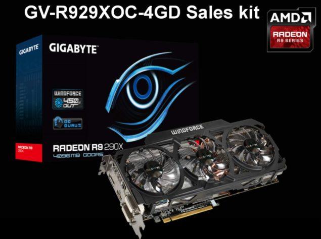 Gigabyte Radeon R9 290X OC GV-R929XOC-4GD