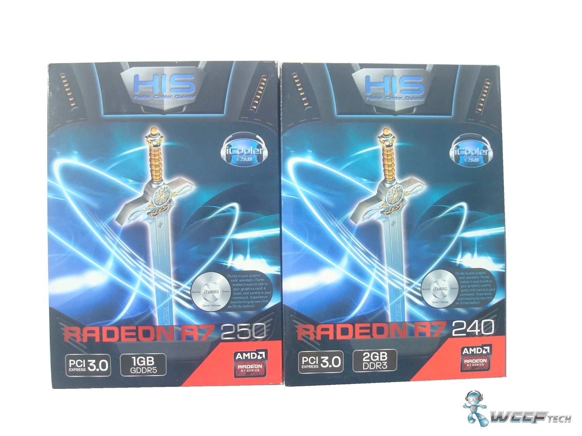 HIS Radeon R7 250 iCooler and Radeon R7 240 iCooler Graphic