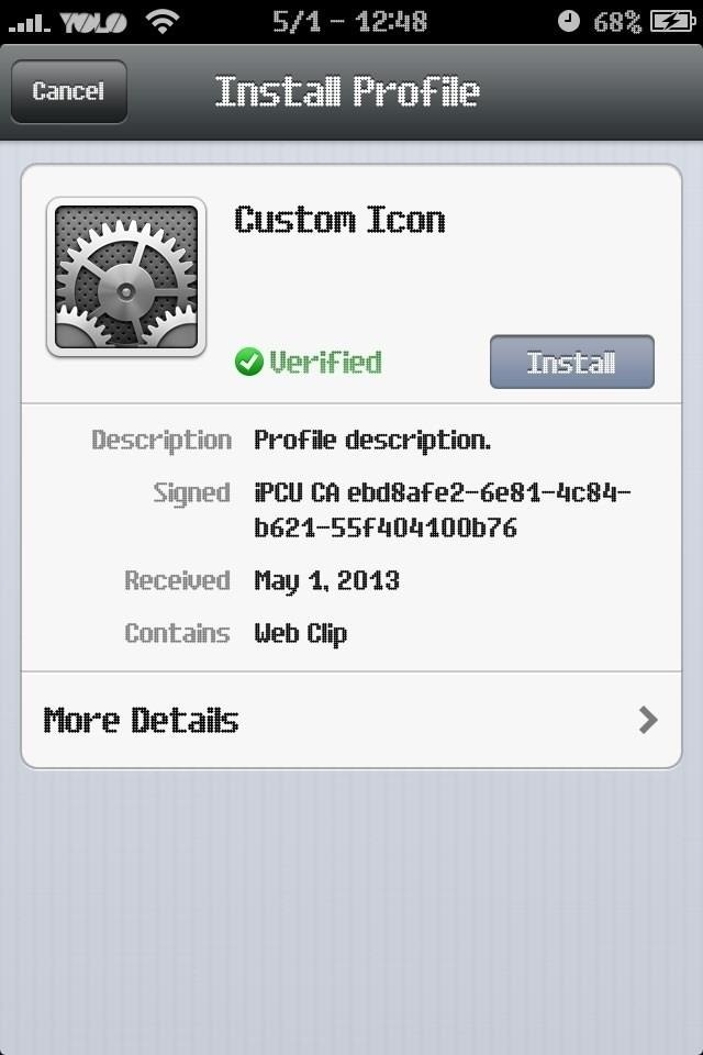 make custom app icons without jailbreak on ios 7