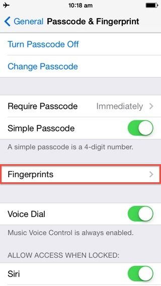 improve iPhone 5s fingerprint accuracy