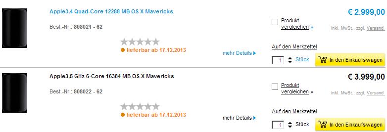 mac pro launch date