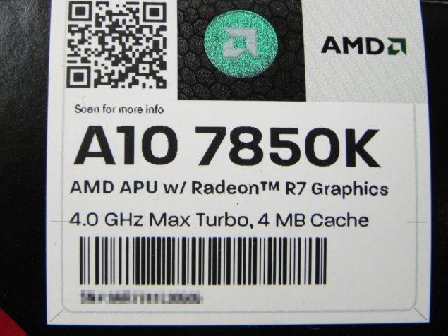 AMD A10-7850K Specs