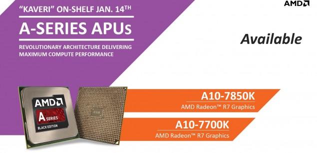 AMD Kaveri Available