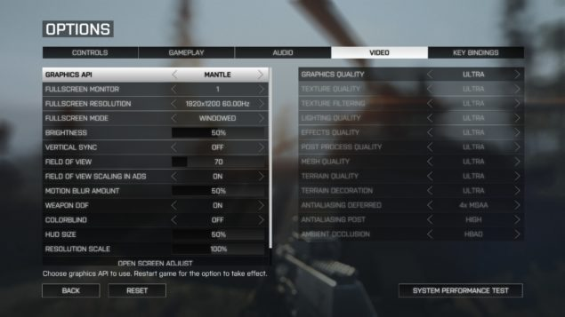 AMD Mantle API Battlefield 4