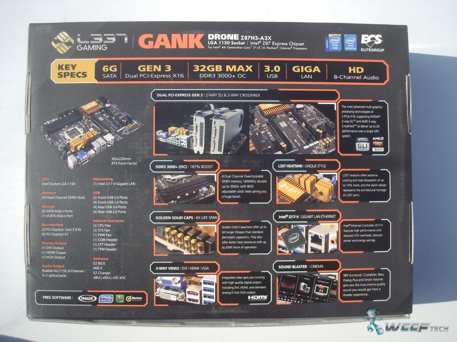 ECS GANK Drone Z87H3-A3X LGA 1150 Motherboard Review
