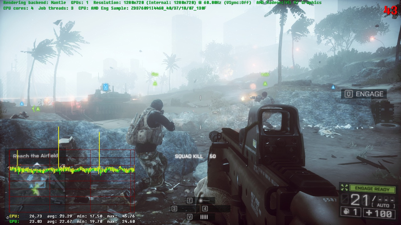 DICE Officially Launches Mantle Update For Battlefield 4 - 1 23 GB