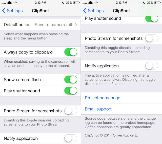 clipshot ios 7 jailbreak tweak
