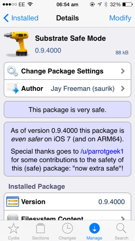 Substrate Safe Mode iOS 7