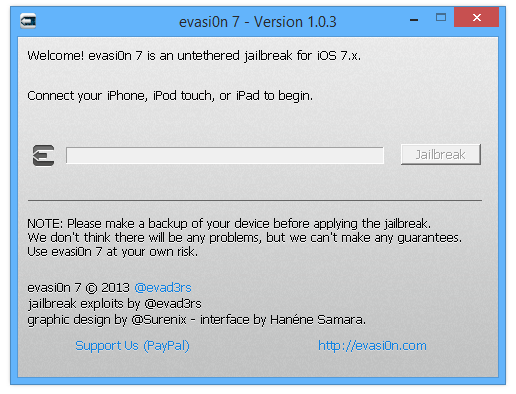 Evasi0n7 1.0.3