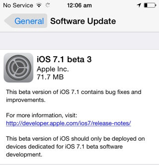 ios 7.1 beta 3 download links