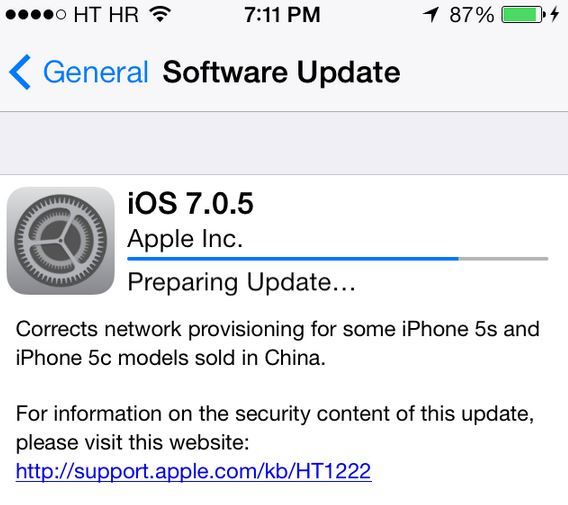 Download iOS 7.0.5