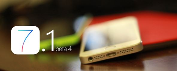 ios 7.1 beta 4 changelog
