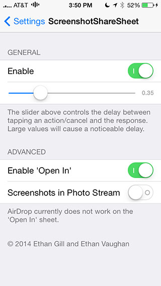 screenshotsharesheet ios 7 jailbreak tweak