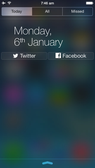 iOS 7 notification center jailbreak tweak