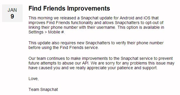 snapchat security fix