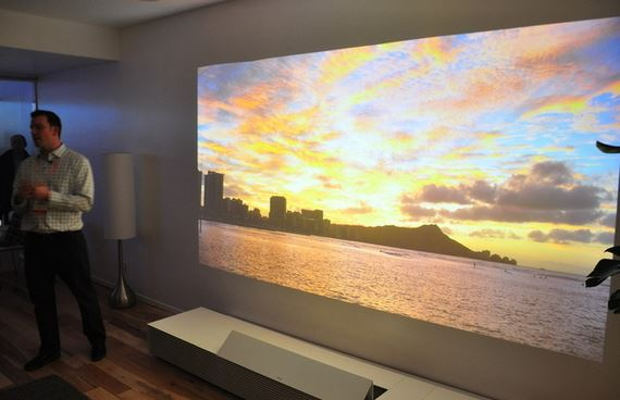 ces 2014 best sony ultra short 4k tv projector