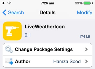 weather ios 7 jailbreak tweak