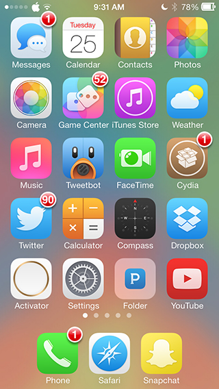 notification badges ios 7