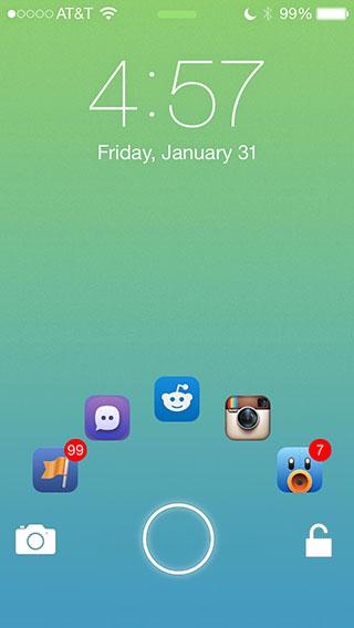JellyLock7 iOS 7 lock screen tweak