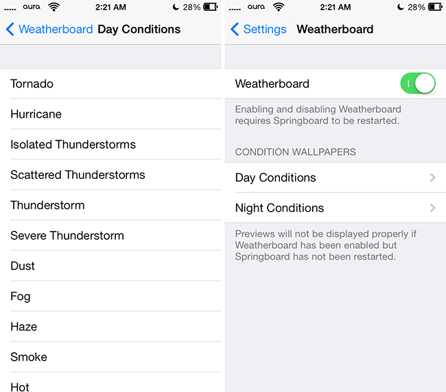 weatherboard ios 7 themes
