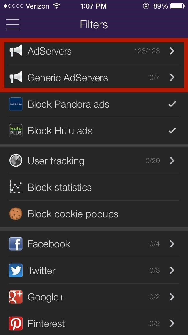 block ads in ios 7 apps