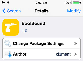 BootSound iOS 7 jailbreak tweak