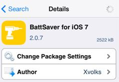 BattSaver iOS 7 tweak