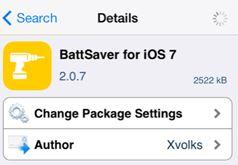 BattSaver iOS 7 tweak