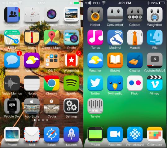 top iOS 7 themes