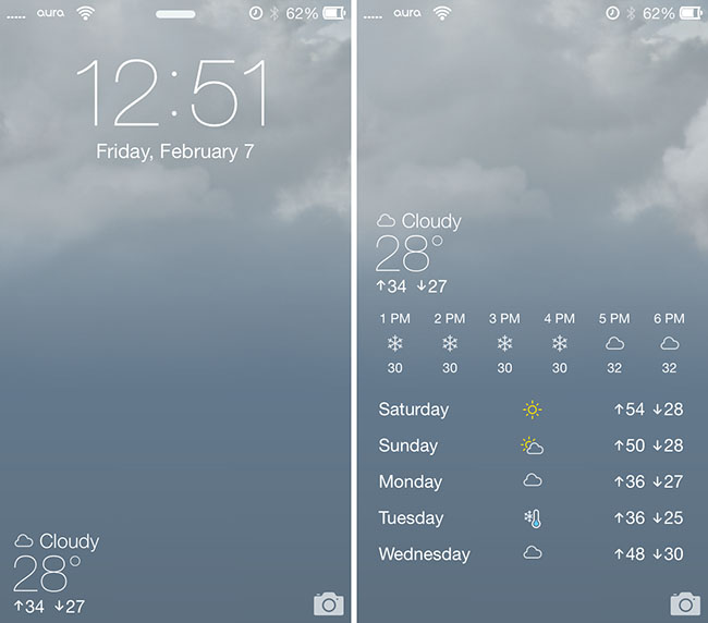 forecast ios 7 theme